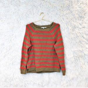 Boden striped cotton pullover sweater